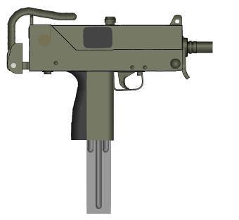 mac11 airsoft gas uzi machine gun full metal machine gun