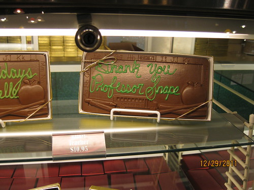 12/29/11:  Pounds of chocolate to thank your Professor Snape