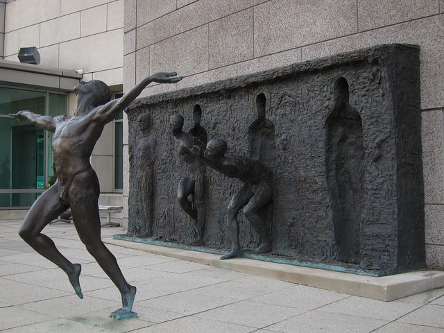 """Freedom 2001"" by  Zenos Frudakis"