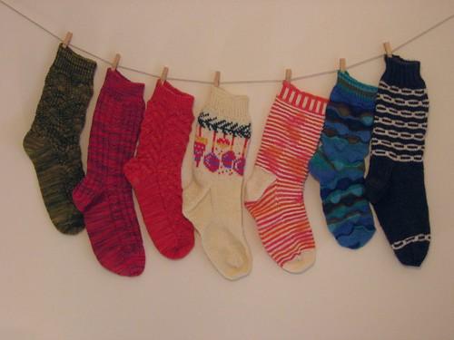 Singleton Socks of Shame, year end 2011