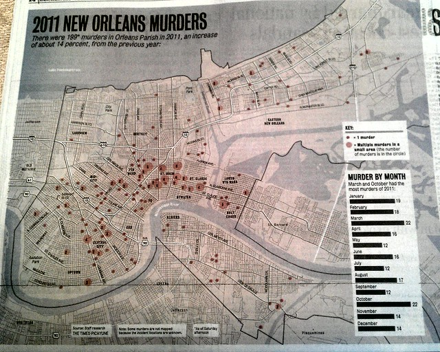 New Orleans 2011 Murder Map Times Picayune Flickr Photo Sharing