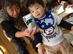 とらちゃんとばあば (2012/1/1)