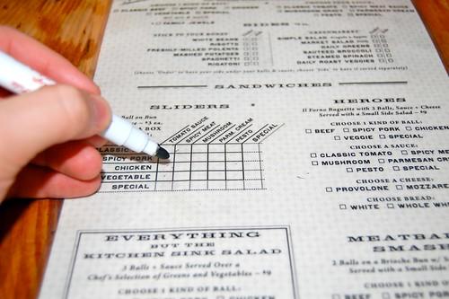 dry erase menu