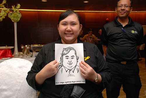 Caricature live sketching for SCORE – Yellow Ribbon Celebrating 2nd Chances 2011 - 13