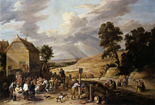 Teniers_the_Younger_David-Peasants_Dancing_outside_an_Inn-1660s-II