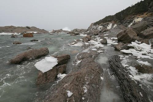 Ice at Cow Head Cliffs