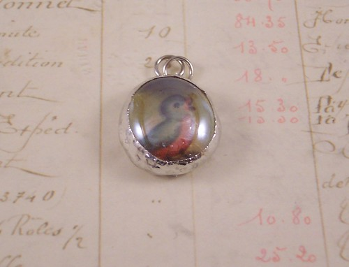 Bluebird Bubble Glass Charm