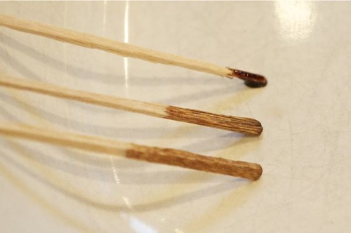 balsamic reduction/3 toothpicks