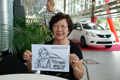 Caricature live sketching for Tan Chong Nissan Almera Soft Launch - Day 2 - 32