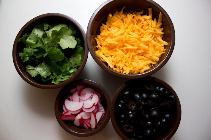 Veggie Meat Tacos Fixins!