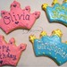 Princess Tiara & Prince Crown Birthday Sugar Cookies