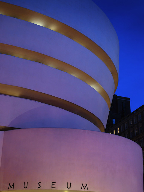 Blue hour at the Guggenheim