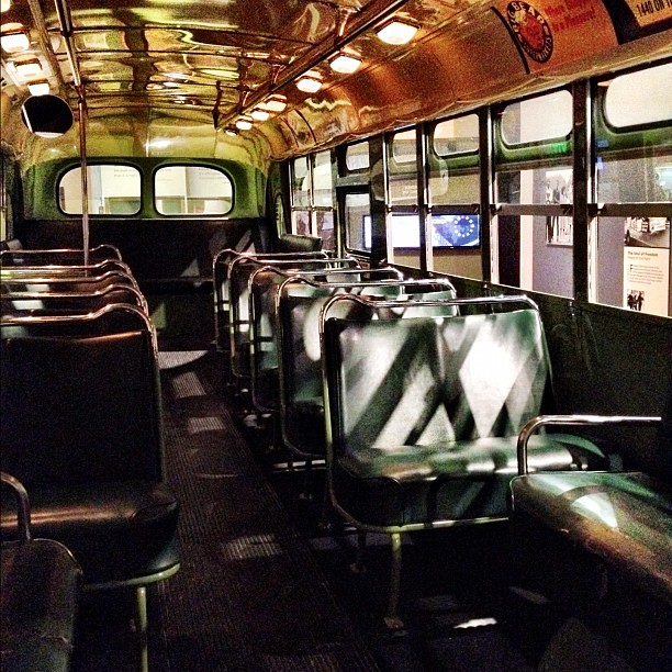 Inside the bus that Rosa Parks sat in. #FordNAIAS