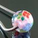 Charm bead : Pink garden