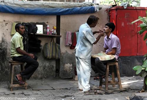Street Barbering, Mumbai