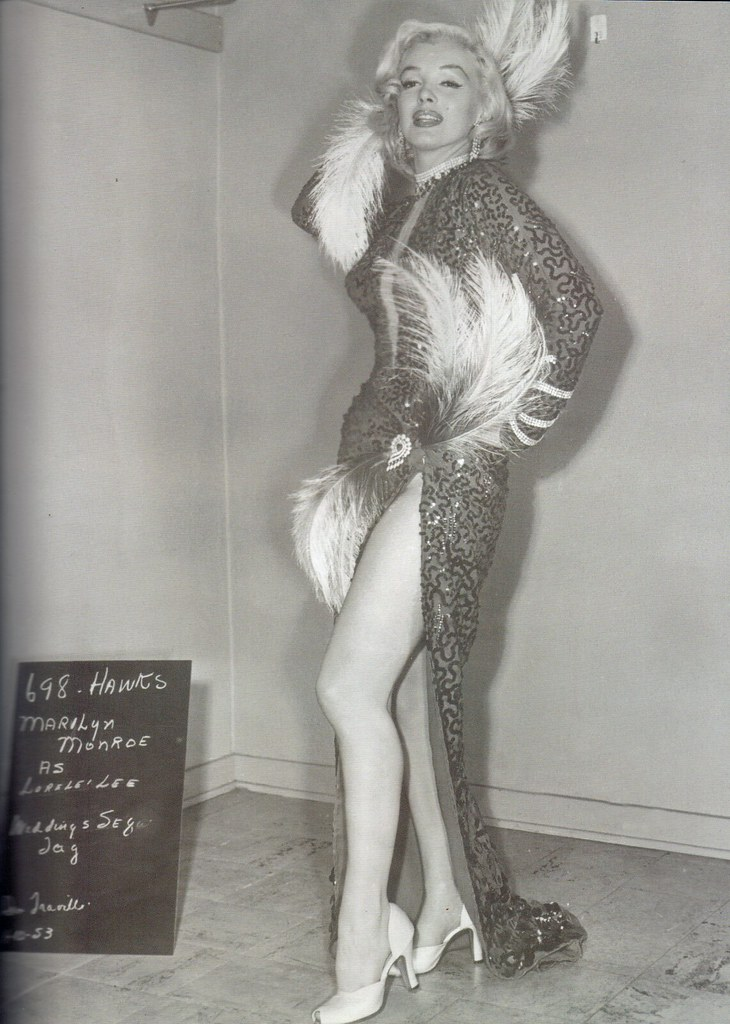 "A Costume Test of Marilyn for ""Gentlemen Prefer Blondes"""