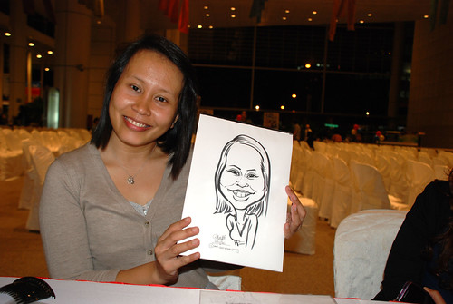 caricature live sketching for kidsREAD Volunteer Appreciation Day 2011 - 21