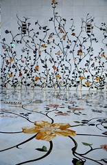 interior walls & floor of Sheikh Zayed Grand Mosque, Abu Dhabi  U  A  E by mamasain