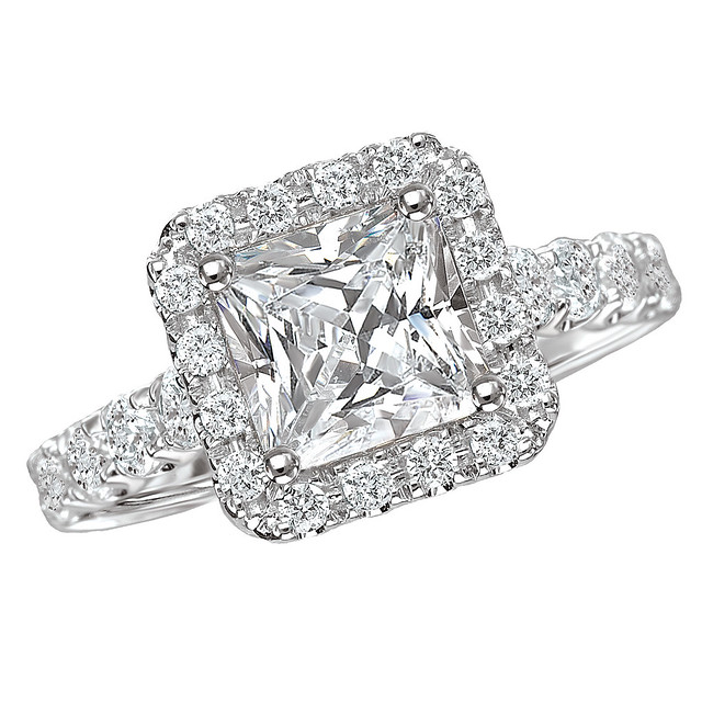 square halo engagement ring flickr photo