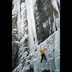 adventure(1.0), individual sports(1.0), sports(1.0), recreation(1.0), outdoor recreation(1.0), mountaineering(1.0), ice(1.0), extreme sport(1.0), ice climbing(1.0), climbing(1.0),
