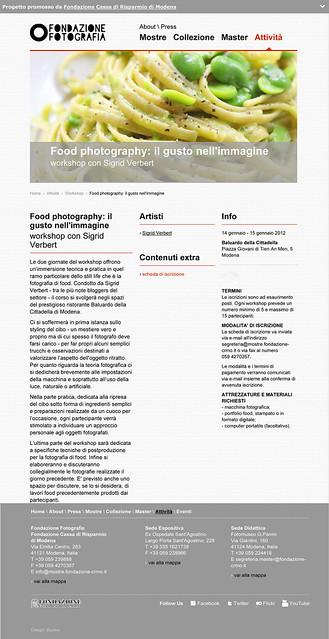 Corso di Food Photography - Sigrid Verbert