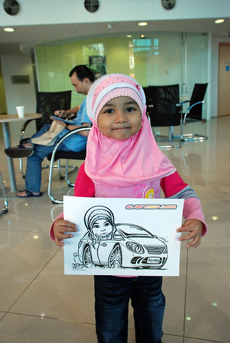 Caricature live sketching for Tan Chong Nissan Motor Almera Soft Launch - Day 3 - 9