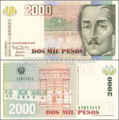 P-445_Colombia_2000_2,000_Pesos