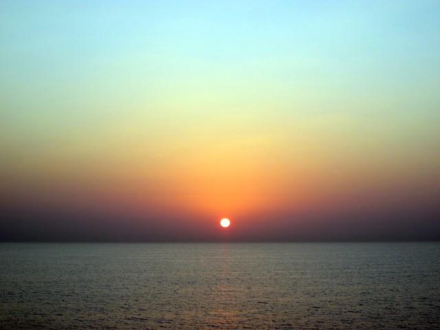 sunrise on the Persian Gulf