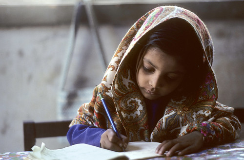 Portrait of Pakistani Schoolgirl
