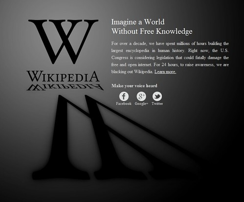 wikipedia blackout by Atlas Pastorelli
