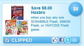 Scrabble Flash, Simon Flash, Or Yahtzee Flash Game Coupon