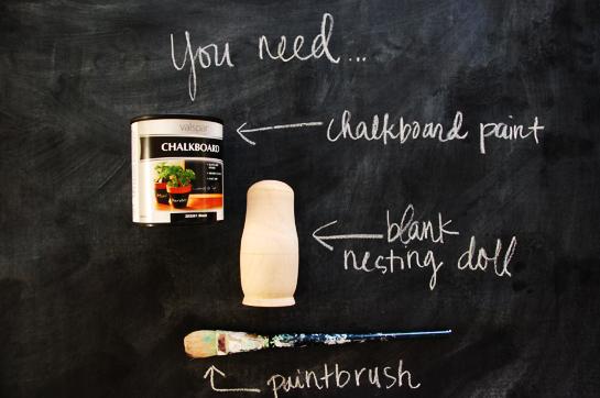 chalkboard nesting dolls