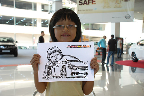 Caricature live sketching for Tan Chong Nissan Motor Almera Soft Launch - Day 4 - 10