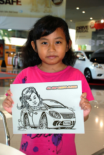 Caricature live sketching for Tan Chong Nissan Motor Almera Soft Launch - Day 4 - 22