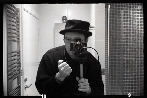reflected self-portrait with Ihagee Parvola camera by pho-Tony
