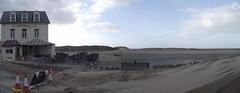 Bath House & Sand Swept Road Panorama