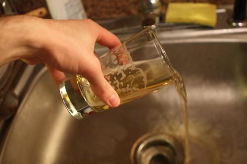Dumping Budweiser Down Sink