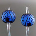 Earring pair : Periwinkle leaf