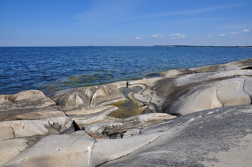 Glaciated rock at Katanpää island, Baltic Sea, Finland