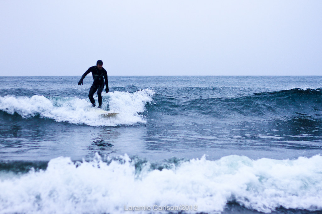 Winter surfing on Lake Superior