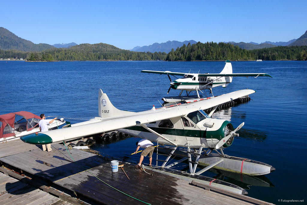 Tofino Air harbour.