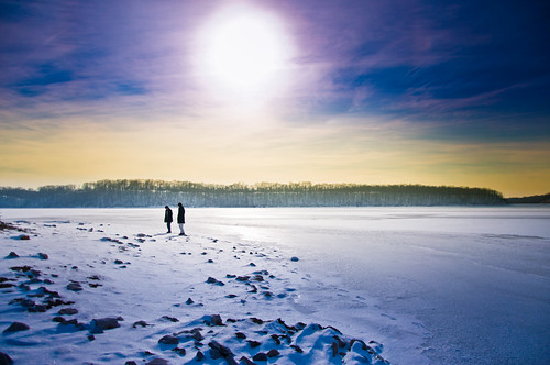 Frozen Lake & Sun