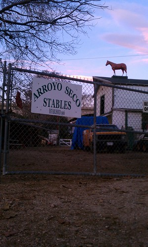Arroyo Seco Stables front gate in South Pasadena