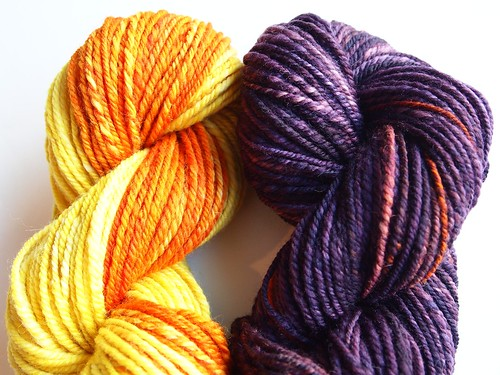 Corgi Hill Farm-Falkland-6.4oz-chain plied- total of 229yds-Color B-Monika's Muse