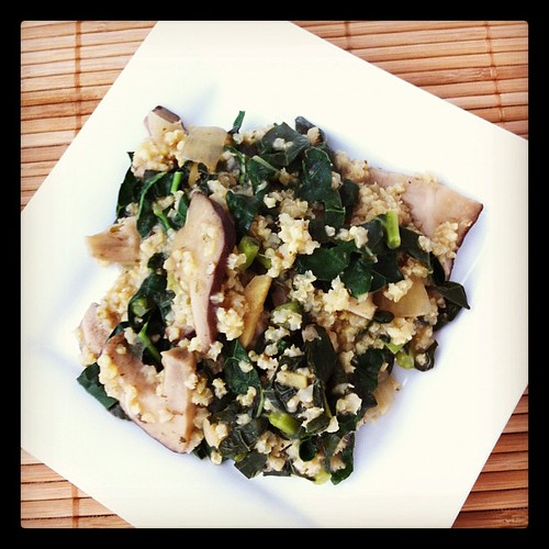 Mushrooms, Millet and Kale