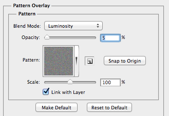 8. Pattern Overlay options.
