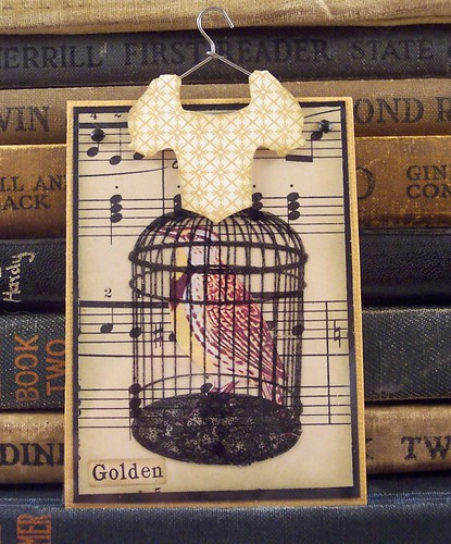 Yellow Cage Dress Art Card
