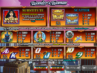 free Wonder Woman slot payout