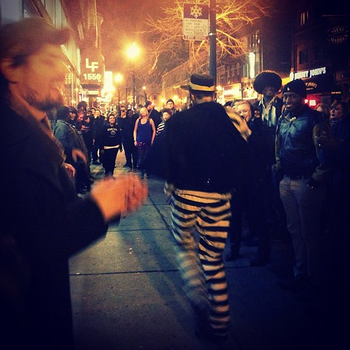 #soultrain #wickerpark #chicago #igerschicago #city #night #dancing #hamburglar