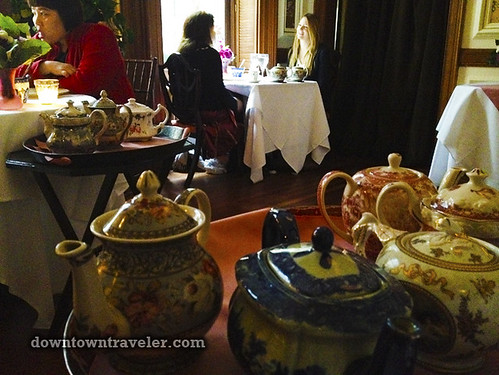 Lady Mendls Tea Salon NYC tea pots